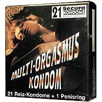 Orion 414077 Secura Multi-Org. 21 Stück mit Ring, Kondome mit mikrofeinen Reizrillen inklusive wiederverwendbarem... preisvergleich bei billige-tabletten.eu
