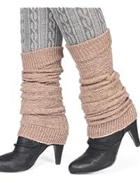 Distressed Damen Winter Stulpen mit Wolle Legwarmer