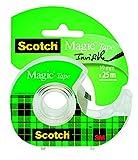 3M Scotch Magic Tape Dispensered Rolls, 19 mm x 25 m - Clear