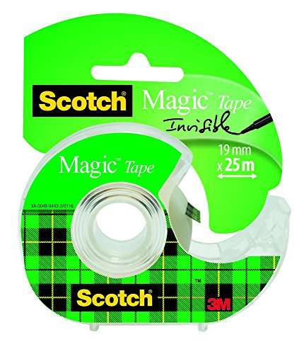 3M Scotch Magic Tape Dispensered Rolls, 19 mm x 25 m - Clear Test