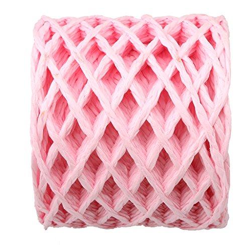 pier String Roll Tag Schnur Seil Schnur String für Hochzeits-Karten, Geschenkverpackungen, Dekoration - Rosa (Sackleinen Papier)