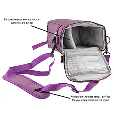 Navitech Purple Large Drone Bag suitable for the DJI Tello