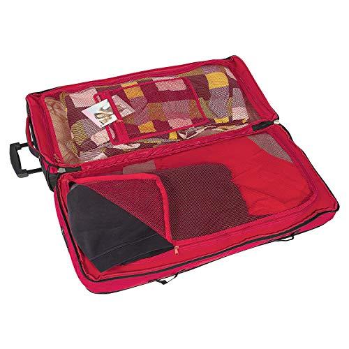 BoGi Bag Unisex– Erwachsene Reistrolley 110 Liter-Rot/Schwarz Reisetasche 85 cm - 4