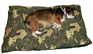 Pet Dog Bed Cushion Large Size Available Colours Blue, Green, Red & Orange from Cosy-Touch