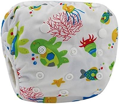 Happy Cherry Ajustable Bañador Pañal de Tela Reutilizable Lavable Diaper Para Bebé Unisex Varios Estilos a Elegir