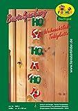 Fischer Fensterbild WEIHNACHTLICHE TEDDYKETTE / Bastelpackung / Größe: ca. 14x95 cm / zum Selberbasteln / Basteln zu Weihnachten mit Papier und Pappe