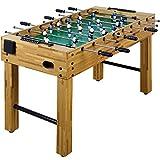 Maxstore Futbolín de mesa Glasgow con juego de accesorios, 2 portavasos, pies regulables en altura, campos de juego perfectamente levantados, patada de mesa, kicker, futbolín