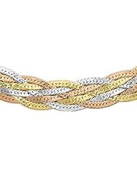 Carissima Gold Collar de mujer con oro tricolor de 9 quilates (375/1000), sin gema, 46 cm