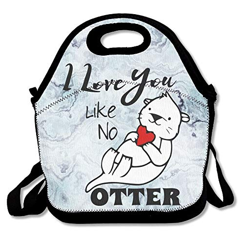 I Love You Like No Otter Lunch Bag Thermal Insulated Tote Picnic Lunch Cooler Box Pouch Picnic Bento Box