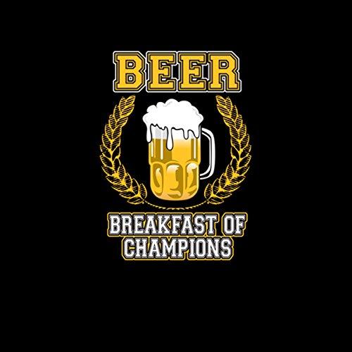 Birra Alcol Breakfast Of Champions Donna T-shirt XS-2XL Nuovo Nero