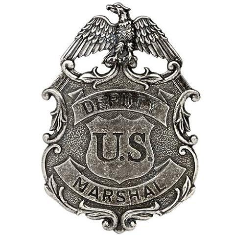COULEUR : NICKEL-AIGLE US MARSHALL ADJOINT DES SERVICES RÉPRESSIFS BADGE EN MÉTAL SOLIDE G112/NQ