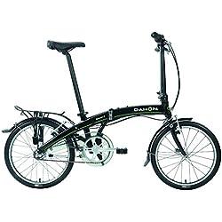 Dahon Curve i3 Bicicleta Mista Dobrável, Obsidian Color Noir, tamanho Taille 20