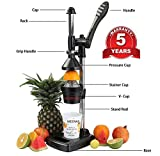 Goldstar Aluminium Meenas Hand Press Juicer Big(Black)
