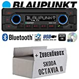 Skoda Octavia 2 1Z 1-DIN Nexus Columbus etc. - Autoradio Radio Blaupunkt Doha - Bluetooth CD MP3 USB - Einbauzubehör - Einbauset
