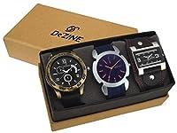 Dezine Analogue 3 Pcs Combos Multicolour Dial Quartz Watch For Men - 3CMB4
