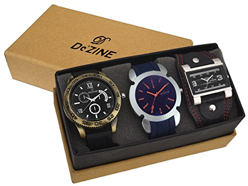 Dezine-Analogue-3-Pcs-Combos-Multicolour-Dial-Quartz-Watch-For-Men-3CMB4