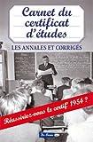 """Afficher """"Carnet du certificat d'études"""""""