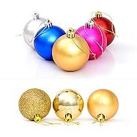RC-Angel 24 Pcs albero di Natale Natale decorazioni delle sfere Baubles ornamento partito di nozze Giallo - Giallo Di Natale Charm