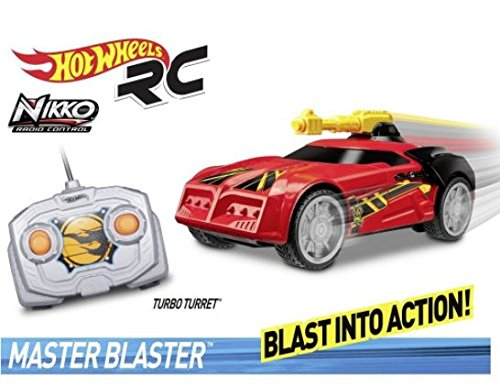 Toy State Hot Wheels Coche teledirigido Radio Control con luz, Sonido y Musica Master Blaster  Turbo Turret