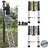 3.8M 12.5Ft telescópica escalera multiusos aluminio plegable luz peso 13pasos Hight calidad?uk Stock
