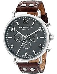 Akribos XXIV Reloj con movimiento cuarzo suizo AK752SSBR 45 mm