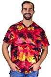 Funky Chemise Hawaienne, Surf, Rouge, XXL