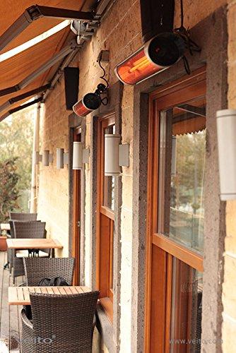 Blade S – Design Infrarot Heizstrahler mit 2500 Watt inklusive Fernbedienung , 4 Heizstufen, Timerfunktion, Carbonstrahler als Terrassenheizer bzw. Terrassenstrahler ideal geeignet. Infrarotstrahler für Indoor und Outdoor. - 4