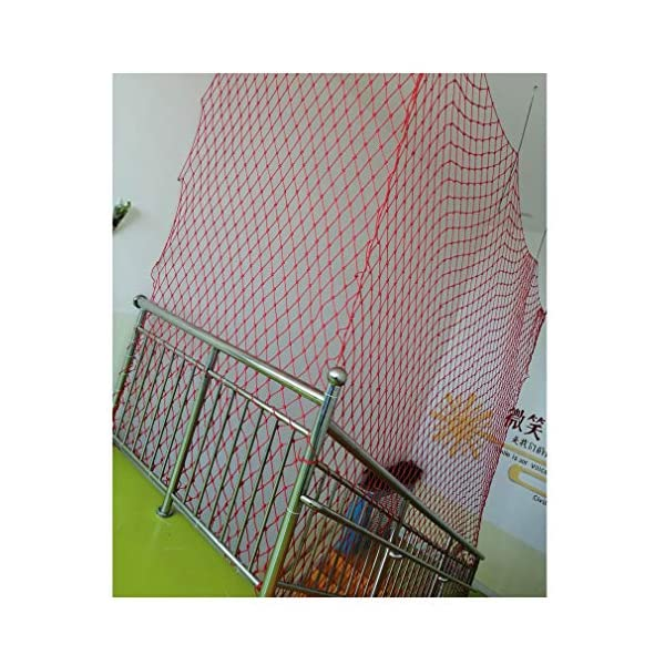 Child Safety Net, Baby Balcony Stair Cat Pet Protective Net, Bird Net, Garden Plant Protection Net, Outdoor Fall Protection Safety Net, Size 10mm * 6cm (Size : 4 * 9M)  ♦Child Safety Net. Handmade: High quality safety net protection net, the rope itself is flawless, re-twisted, and the rope is wound vertically and horizontally.This makes it straighter and far superior to the folding method (you can judge by hanging the bend). ♦Garden Protection Net. Polypropylene coating - Our utility ropes are made of a durable polypropylene jacket that can be hung if necessary.Nylon core and polypropylene cover have amazing resistance to deterioration, mildew, moisture, grease and rot. ♦Baby Balcony Protective Net. 100% risk-free use: We have no reason to ask for the quality of our products, which is why we believe you will like it!We believe in the quality of our products, so you can rest assured that you can get the best products on the market. 4