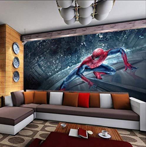 Benutzerdefinierte 3d Kinder Jungen Cartoon Tapete Wandbild Spiderman Tv Sofa Kinder Schlafzimmer Wohnzimmer Café Bar Restaurant Hintergrund Breite 200cm * Höhe140cm pro