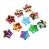 D DOLITY 10 Stück Sterne Glas Cabochons Flatback Verzierung Schmucksteine Dekosteine für DIY Handwerk Basteln