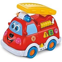 Camión de bomberos intelectual para niños de 1 año/ ligero/ enseñanza del idioma para niños y niñas (HL-526)