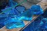 Steingrau Glasbrocken Glassplitt Dekoglas Gabionen Korngrößen 40-80mm Farbmix neon blau türkis 20kg