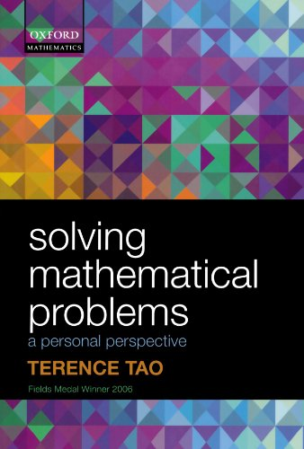 Solving Mathematical Problems: A Personal Perspective por Terence Tao