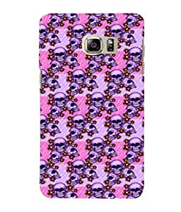 printtech Skull Pink Floral Pattern Back Case Cover for Samsung Galaxy Note 5 Edge::Samsung Galaxy Note 5 Edge 2