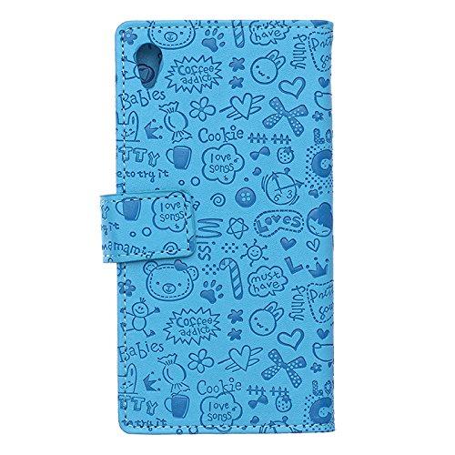 Voguecase® Pour Apple iPhone 6/6s 4,7 Coque, Etui Housse Cuir Portefeuille Case Cover (dream/plume 01)de Gratuit stylet l'écran aléatoire universelle Fille Magique-Bleu