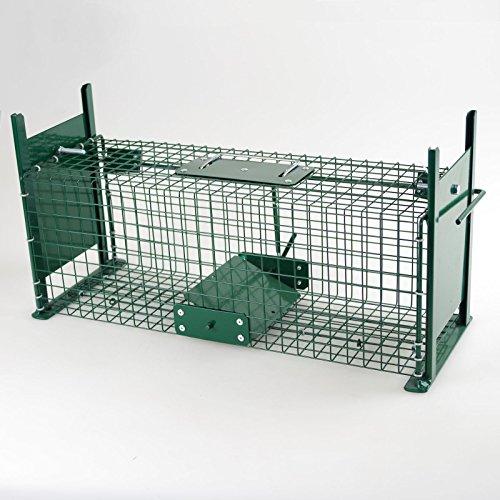 Piège Cage cas 50cm Vivants Piège Piège à rat Double Entrées cas des animaux
