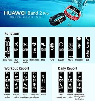 Huawei Band 2 Pro Fitness-tracker (Gps, Bluetooth, Herzfrequenzmessung, Wasserdicht Bis 5 Atm) Schwarz 9