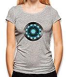 shirtminister Arc Reactor Ironman 2 Damen T-Shirt Grau-Meliert S