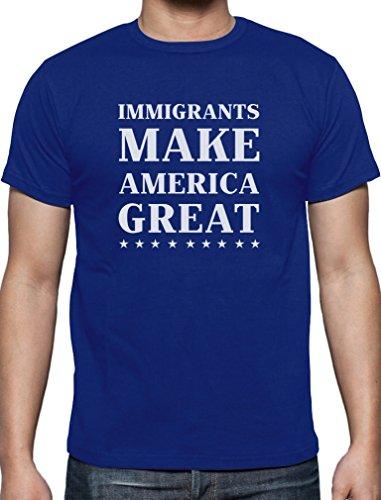 Immigrants Make America Great - Trump USA T-Shirt Blau