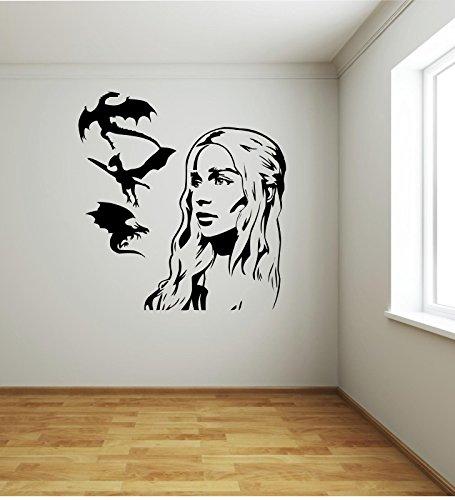 Adesivo murale - Wall Sticker - Targaryen Draghi Khaleesi - Il Trono di...