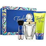 Taylor By Taylor Swift For Women Gift Set: 3.4 Oz Eau De Parfum Spray + 3.4 Oz Body Lotion + Shimmering Powder...