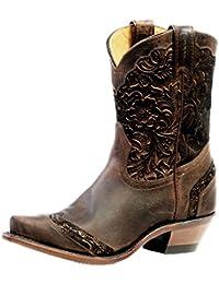 Botas de los EE.UU.-Botas western BO-4631-50-C (pie normal), diseño de mujer, color marrón