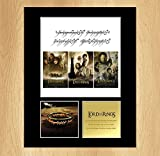 The Lord Of The Rings ALL FILMS Mounted Photo Display Collectable