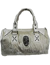 ac6cd19eb0 Zarapack Women s Black Faux Fur Clutch Lunch Bag Purse Runway Style Bag ·  More Choices from £66.99 · M P Fashion Ivory Beige Faux Fur Skull Detailed  ...