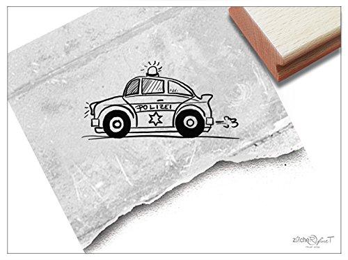 Stempel - Kinderstempel Polizei-Auto Funkwagen Mittel - Bildstempel Geschenk für Kinder - Schule Kita Einschulung Basteln Deko - von zAcheR-fineT