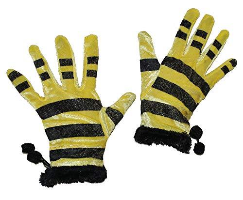Kurze Handschuhe Biene - Handschuhe zum Bienen Kostüm -