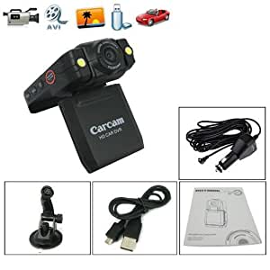 HD Car Dashboard Camera Car Accident DVR with LCD and 140 degree wide angle lense IR NIght Vision