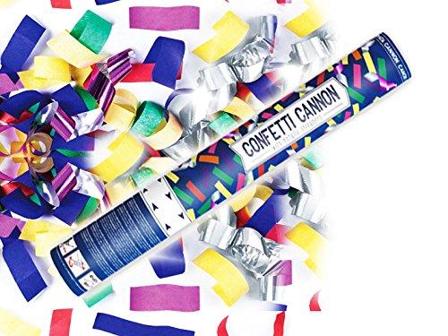 Konfetti Shooter 10 Stück Party Popper bunte Folien Konfetti Kanone XXL 60 cm ! Hochzeit - von Haus der Herzen ®