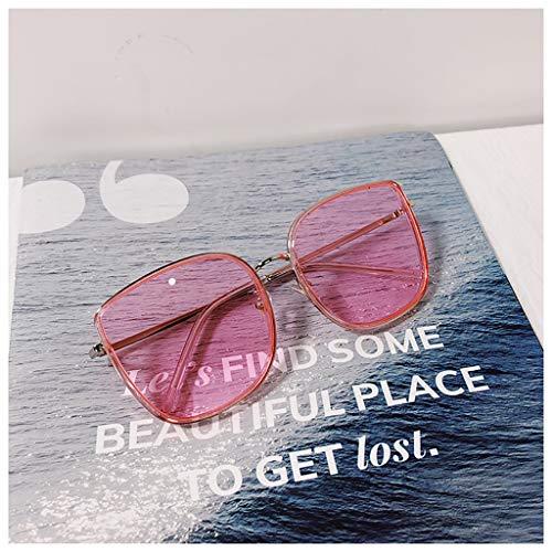 I will take action now Sonnenbrille rundes Gesicht Sonnenbrille V Sonnenbrille weibliche Box große Schachtel rundes Gesicht männlich (Color : D)