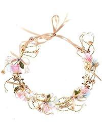 Ocamo Bridal Wedding Flower Wreath Headband Floral Crown Garland for Wedding Festivals